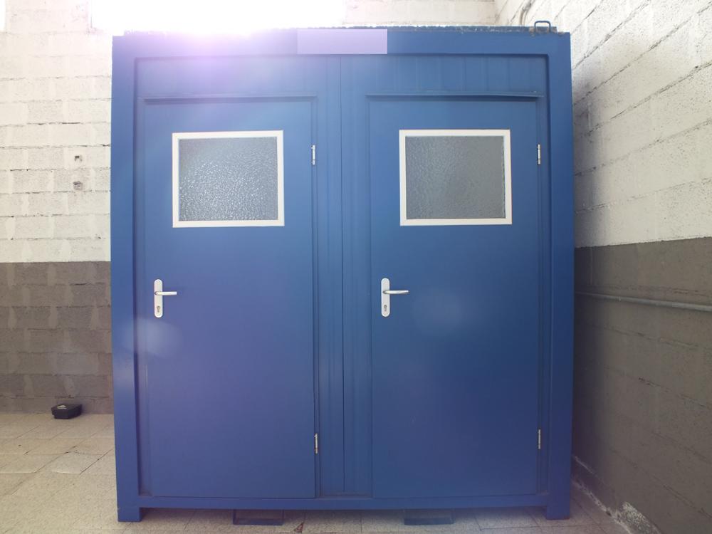 Bagno da cantiere box prefabbricato con doccia vendita - Box bagno esterno ...